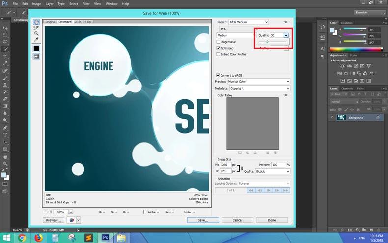 بهینه سازی درست عکس وب سایت